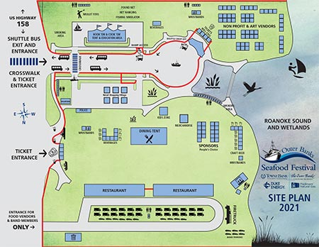 2021 Outer Banks Seafood Festival Site Map PDF file